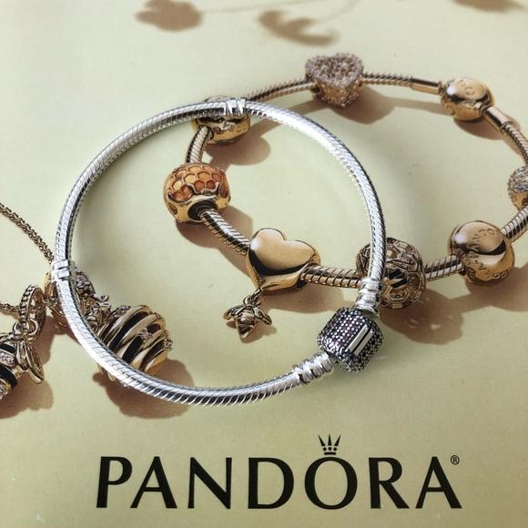 8b28570db Pandora Jewelry | Purple Cz Pave Signature Clasp Bracelet | Poshmark